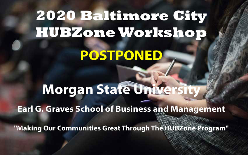 2020 Baltimore City HUBZone Workshop Promotional Photo